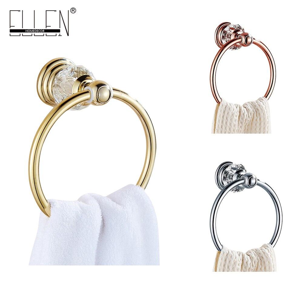 Luxury crystal brass towel ring gold towel holder Bathroom Accessories bath hardware EL7080 luxury crystal brass gold bath towel shelf bathroom shower towel holder bathroom accessories bath hardware el7062
