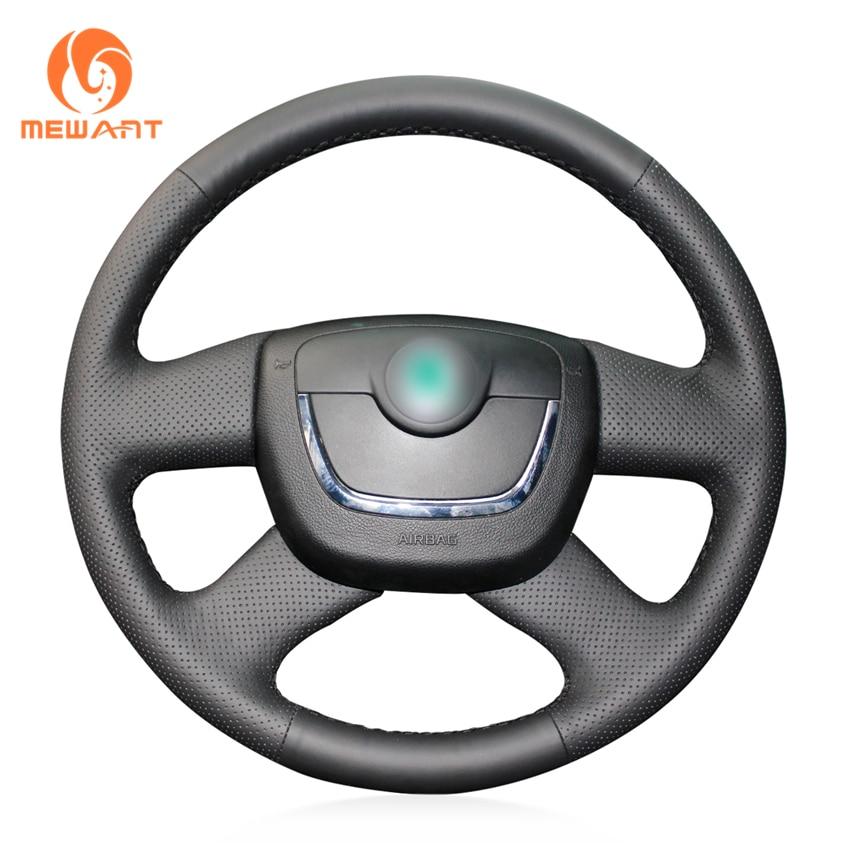Black Artificial Leather Steering Wheel Cover for Skoda Octavia Superb 2012 Fabia Skoda Octavia a5 2012 2013 Yeti 2009-2013 цена