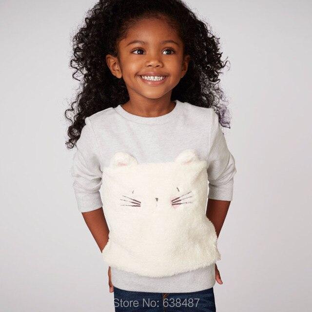 2018 г. Новые брендовые Качественный 100% хлопок Свитеры для женщин для маленьких девочек детская одежда с длинным рукавом Костюмы дети Свитеры для женщин hirts Bebe Блузка для девочек
