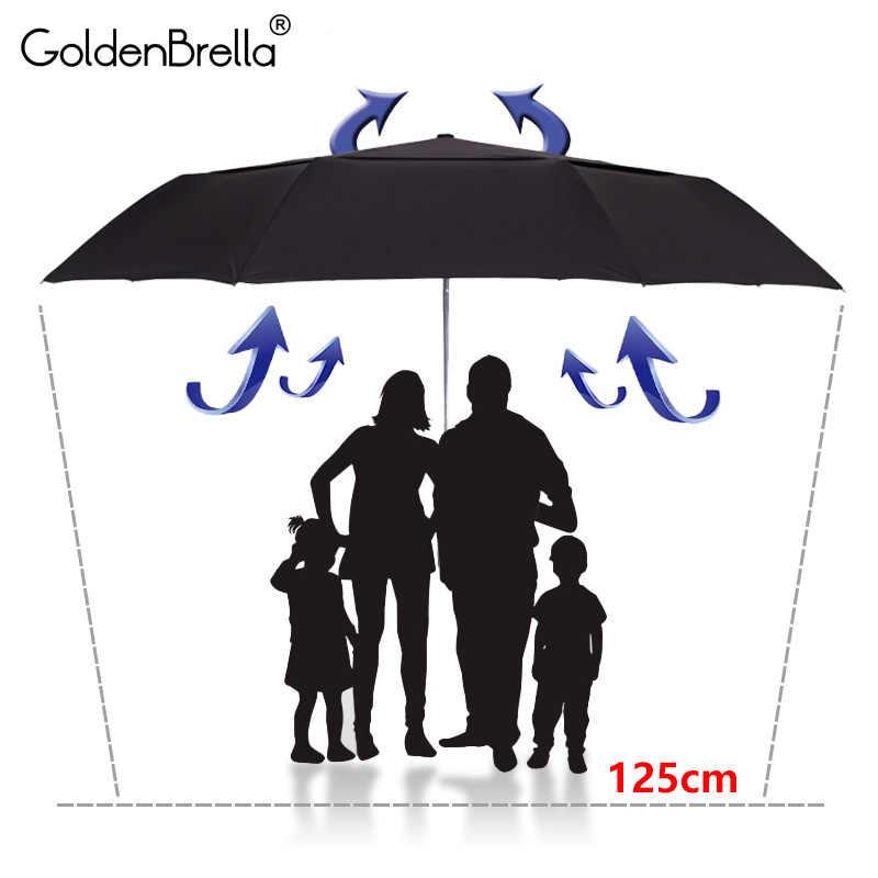 Сильный Качество Зонтик для мужчин большой сопротивление ветра двойной слои автоматический зонт складной зонт для гольфа дождь женщин откр