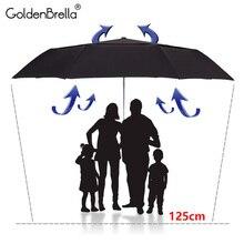Сильные качества зонтик для Для мужчин большой сопротивление ветра двойной Слои Автоматический складной зонтик гольфа дождь Для женщин открытый защиты