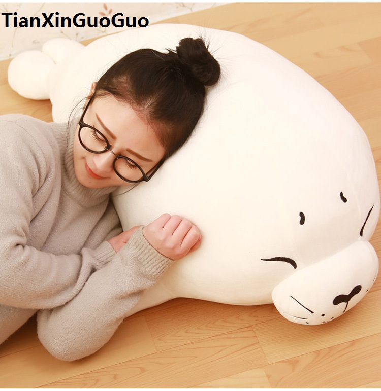 large 75cm cartoon seal plush toy soft doll  throw pillow Christmas gift w2900 large 40cm pink hamtaro hamster plush toy soft throw pillow christmas gift w1890
