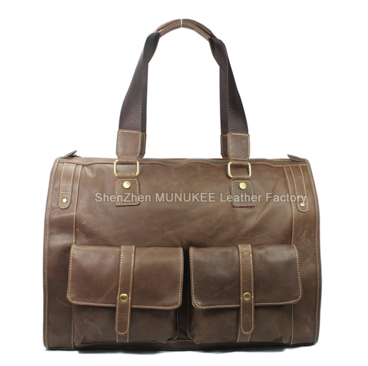 c4188b553 ... Leather Men\'s Travel Bag Large Duffle Bag Canvas Tote Luggage Bag  Boston Overnight Bag big USD 92.29/piece. Dark-brown