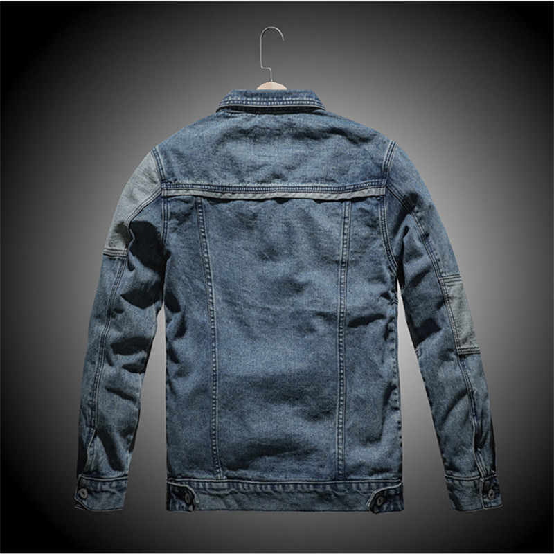 男性のジャケットやコートトレンディ暖かい厚いデニムジャケット 2019 冬のファッションメンズジーンズジャケット生き抜く男性カウボーイプラスサイズ