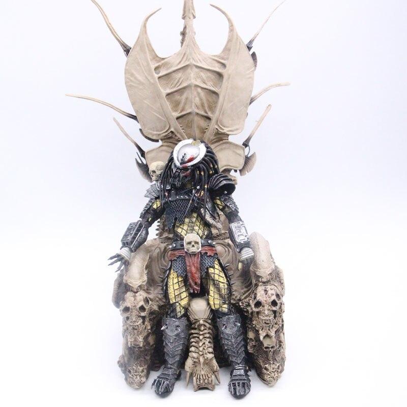 NECA Originale Predators Clan Leader Trono PVC Figure Modello Collezione di Giocattoli-in Action figure e personaggi giocattolo da Giocattoli e hobby su  Gruppo 2