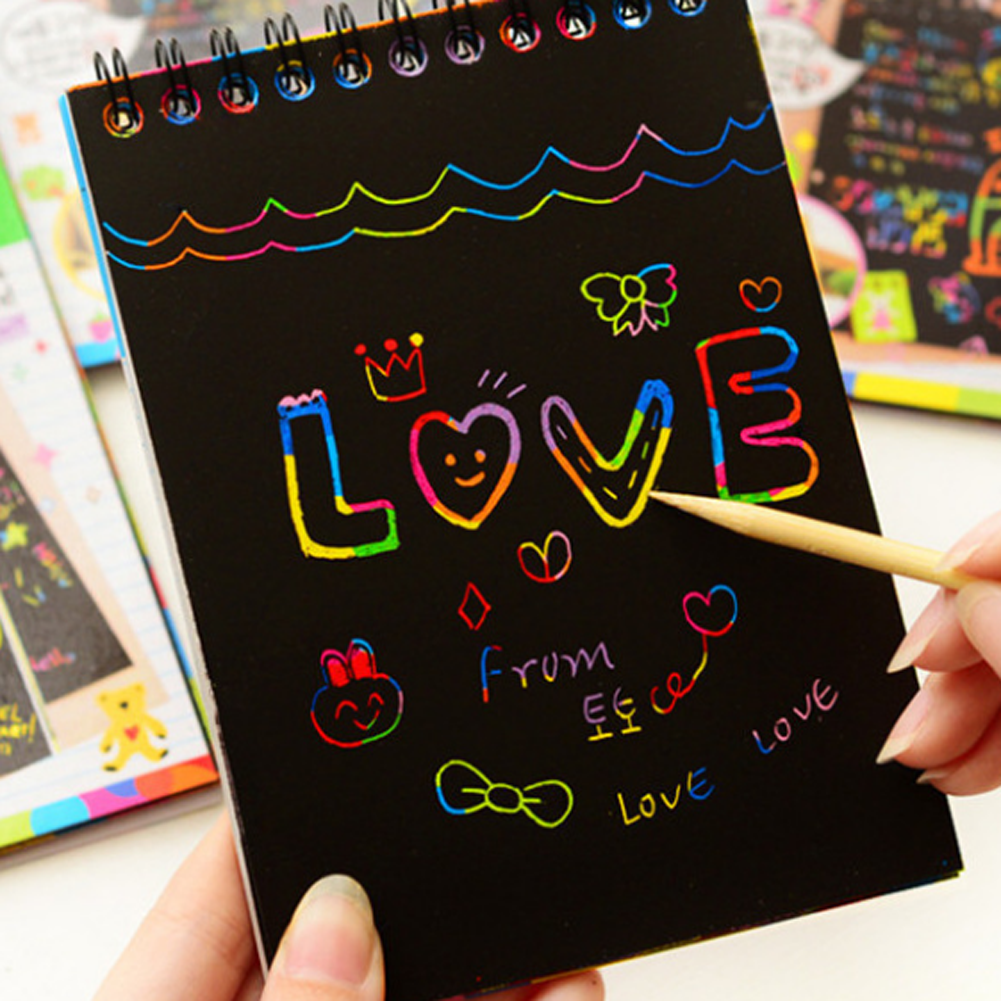 Magic Colorful Drawing Board Paper Painting Scraping Children Kids learning Education Toys Painting Doodle Scratch Toys