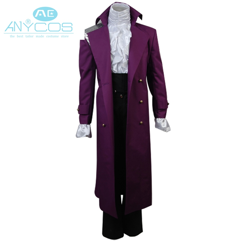 Rogers Nelson In Prince Purple Rain Costume Long Sleeve Coat Full Set Cosplay Costume For Halloween Party