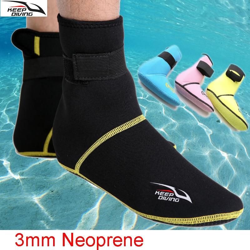 KEEP DIVING Under water Swimming Diving Socks 3mm Thick neoprene men women kids scuba snorkeling boots wetsuit Anti-slip warm