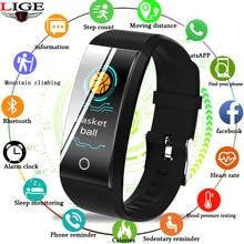 Купить с кэшбэком 2019New Ip67Waterproof Smart Bracelet Bluetooth Heart Rate Monitor Blood Pressure Smart Watch Ftness tracker Smart Wristband+BOX