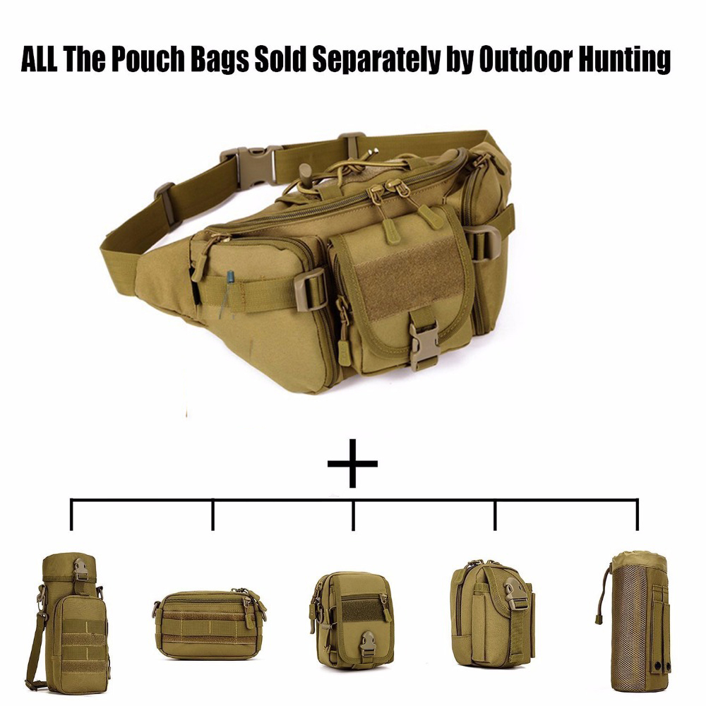 Tactical Molle Waist Bag Military Waterproof Crossbody Bag Pack Hiking Travel Hunting Sports Belt Bag for Camping Cycling Travel outdoor sports waist bag ultra light mini tactical waterproof pouch waist pack small purse for camping hiking cycling climbing