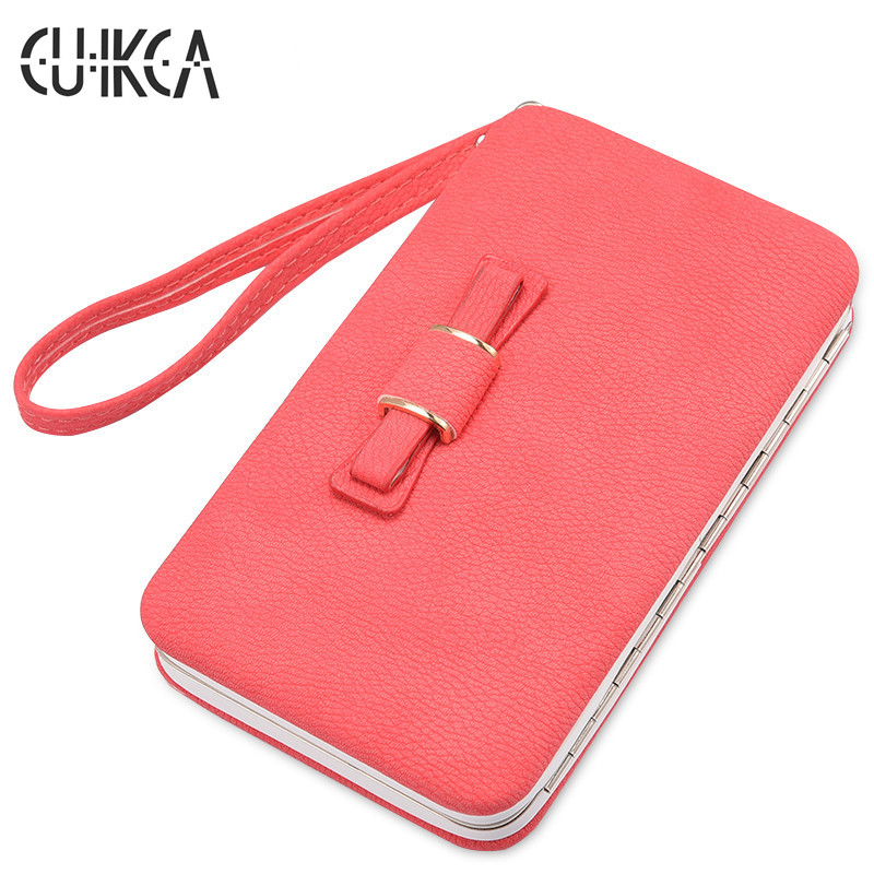 CUIKCA New Fashion Women Wallet Korea Style Nubuck Leather Box Shape Hand Strap Women Handbag Coins Purse ID & Card Holders 001