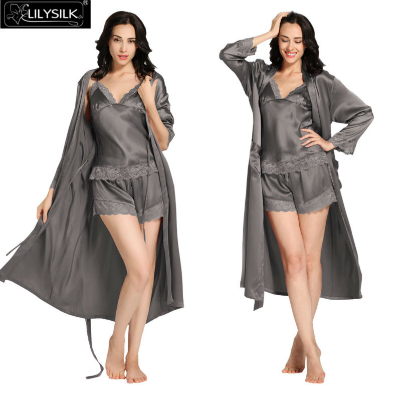 1000-dark-gray-22-momme-lace-silk-camisole--dressing-gown-set
