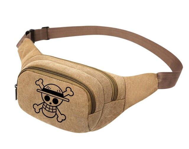 One Piece Men's Women Canvas Waist Pouch Belt Bag