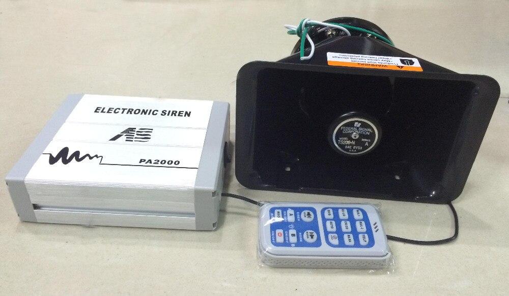 200W Alarm Siren Electronic Car PA2000 Host + Speaker Styling Loudspeaker Horn Buzzer - Car_Mall store