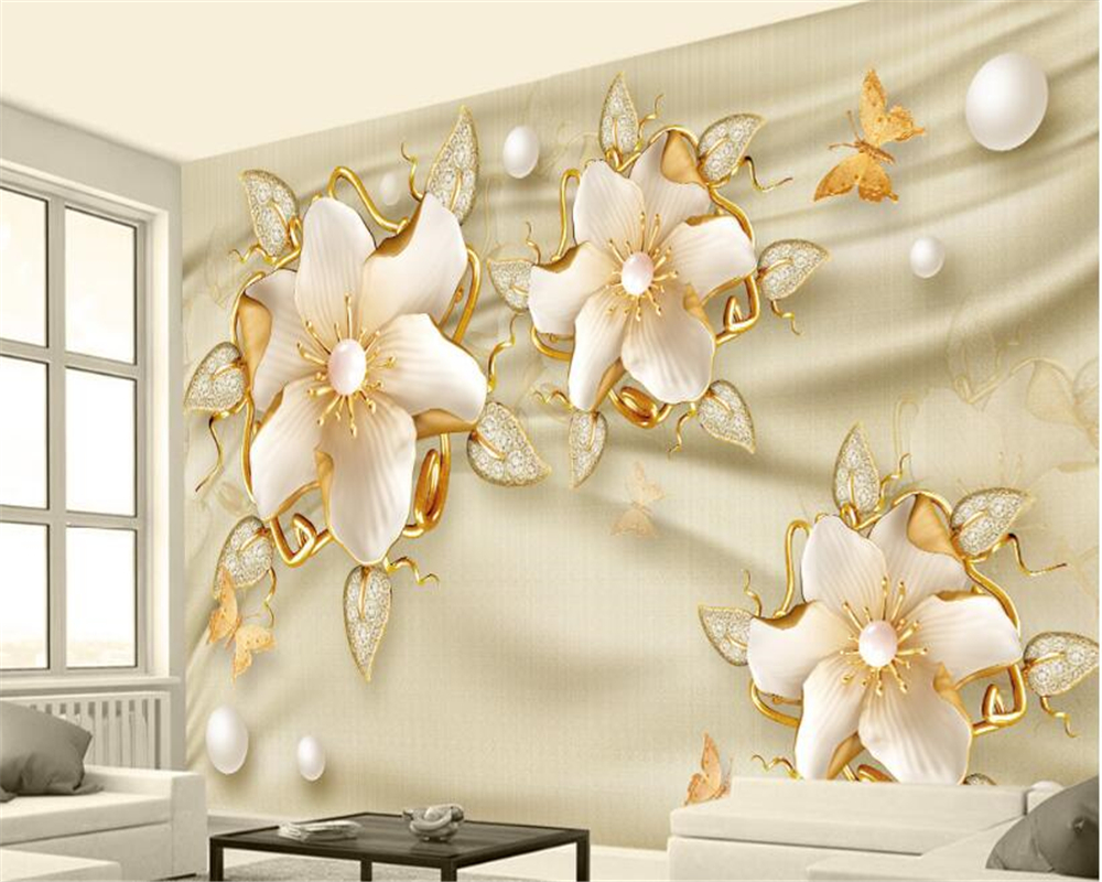 beibehang Custom high level decorative painting wall paper luxury ...