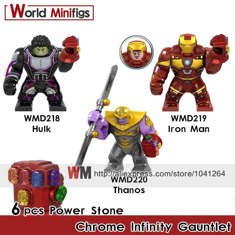 Thanos Custom Chrome Gauntlet 24 Stones!! Marvel Infinity Wars!