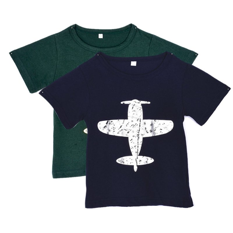 Children Baby/Kids Boys T-Shirt Short-Sleeved Plane Tees Cotton Tops Cartoon Clothing