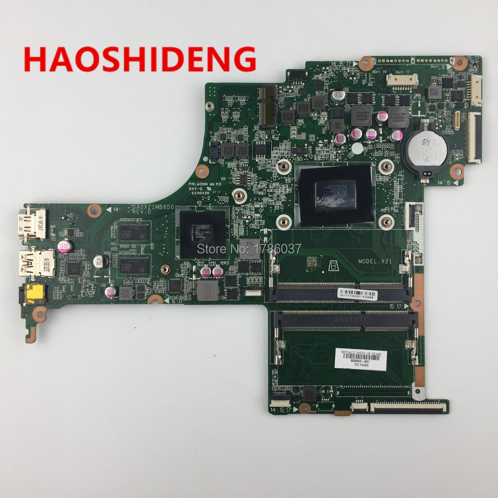 809403-501 809403-601 DA0X21MB6D0 X21 for HP Pavilion 17-G 17-G219CY series motherboard .All fully Tested! 744008 001 744008 601 744008 501 for hp laptop motherboard 640 g1 650 g1 motherboard 100% tested 60 days warranty