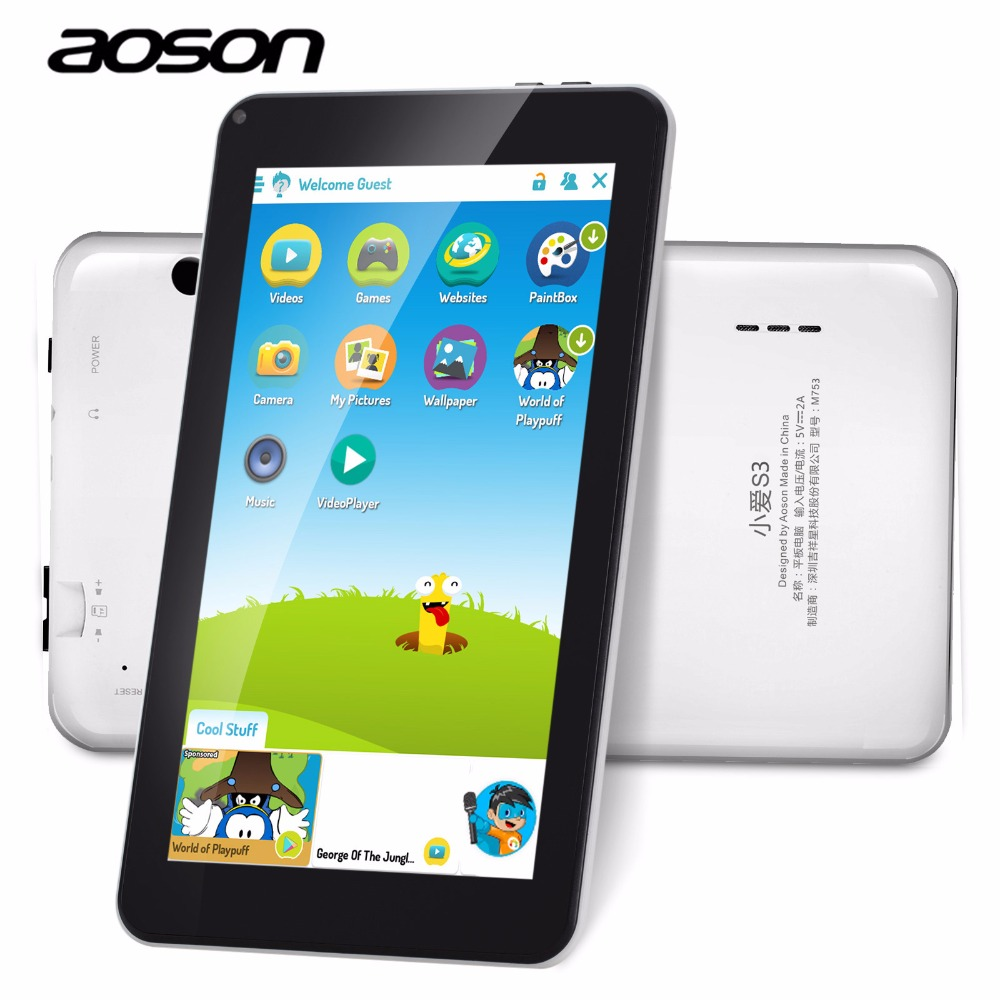 Gift for kids M753 7 inch wifi tablets 16GB ROM 1GB RAM Android 6 0 1024
