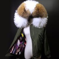 2019 New Bomber Winter Jacket Women Coat natural Mink Raccoon Fur Parka Real Fur Outerwea Streetwear Thick Hood Casual Fashion