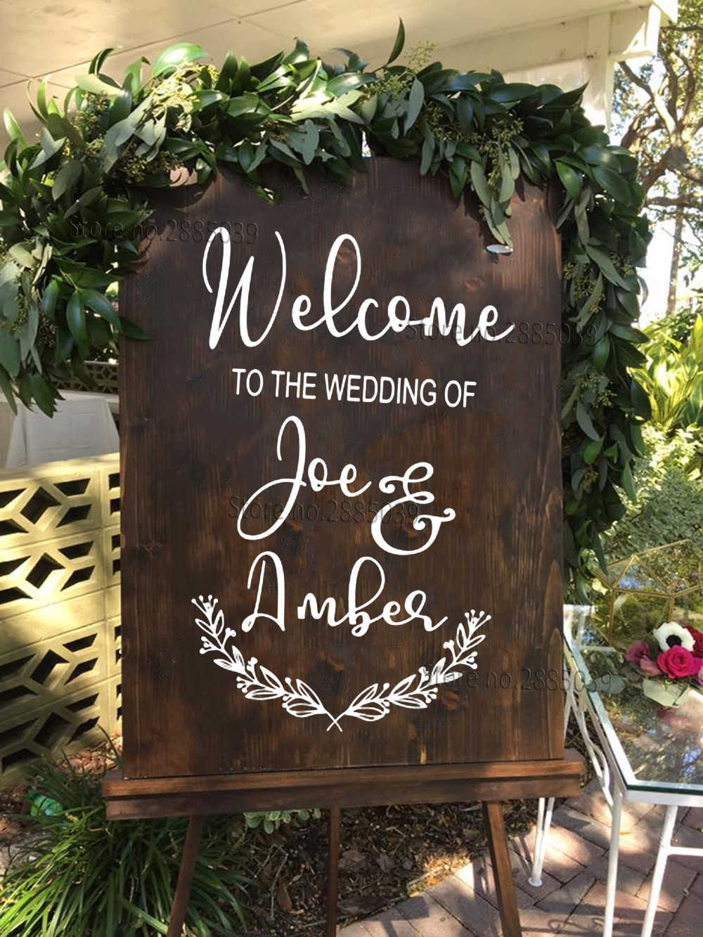 Chalkboard Wedding Signs.Detail Feedback Questions About Flowers Wedding Sign Decal Custom