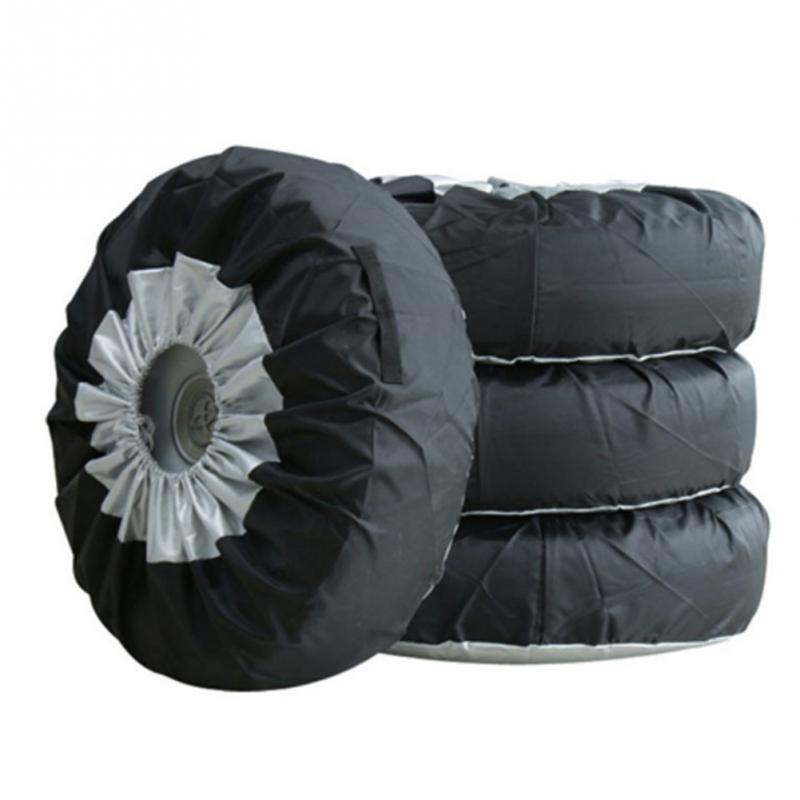 1/2/4pcs Tire Cover Case Winter and Summer Car Spare Tire Cover Storage Bags Carry Tote Tire Wheel Protection Covers