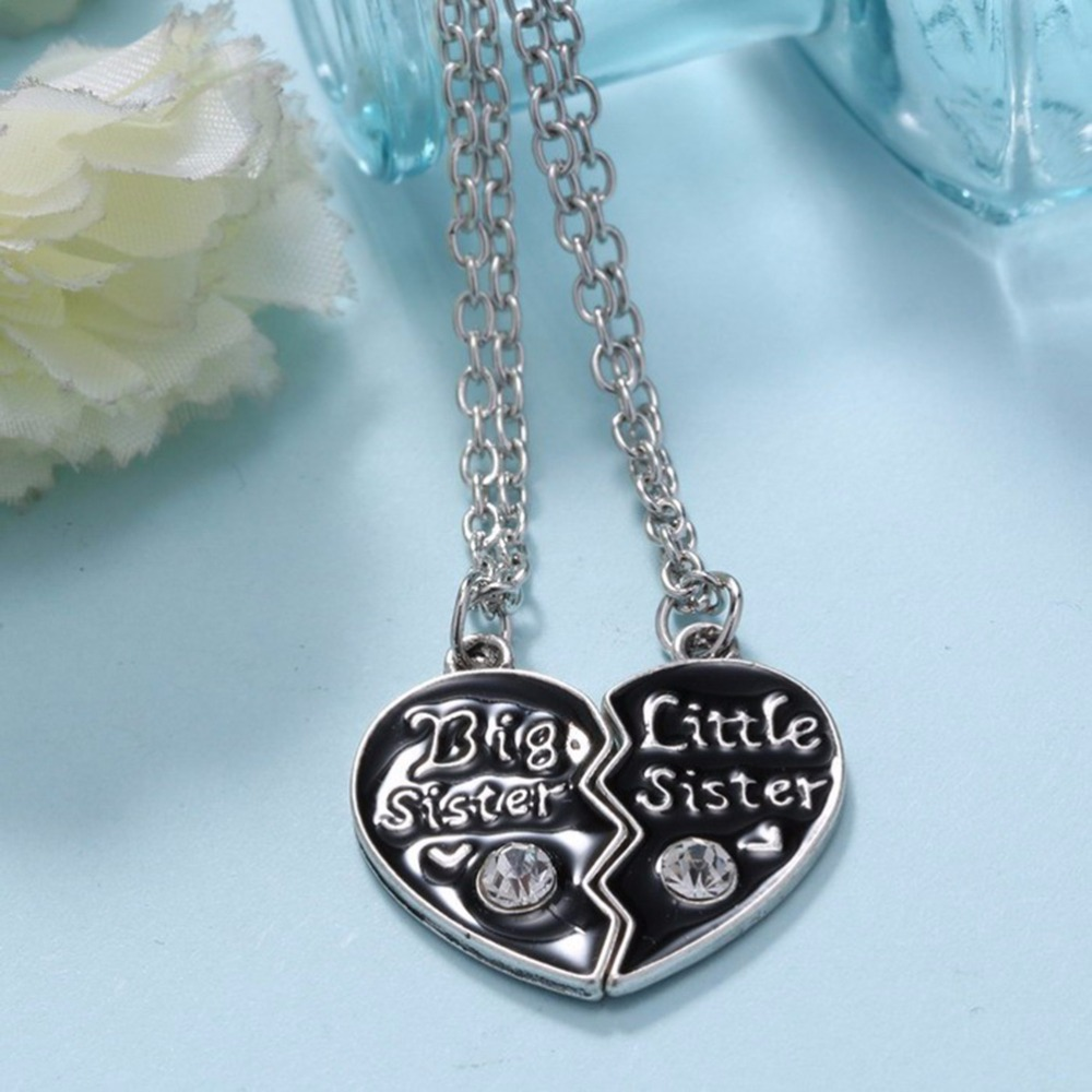 Sweet family jewelry-BFF Cute broken heart style big sister middle sister little sister best sister pendant necklace Переносные часы