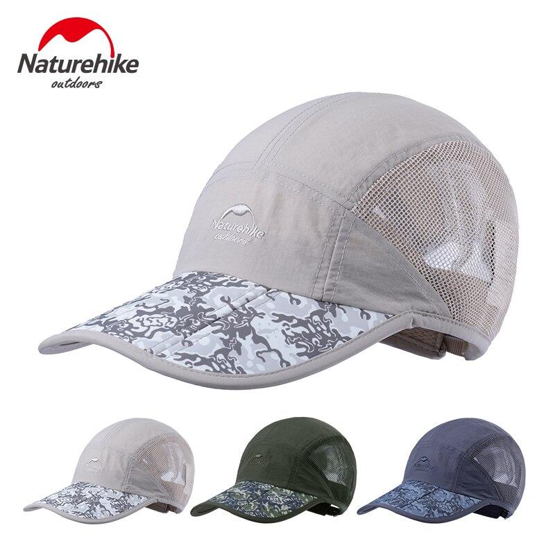 Prix pour Marque NatureHike unisexe Camouflage Pliable Chapeau de Randonnée En Plein Air Travlling Sport D'été Crème Solaire Hommes Femelle casquette à visière