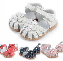 Hot !!! 100% læder toddler kids pink velcro girls sandals 2013 sommer rabat salgsfremmende salg 10% rabat