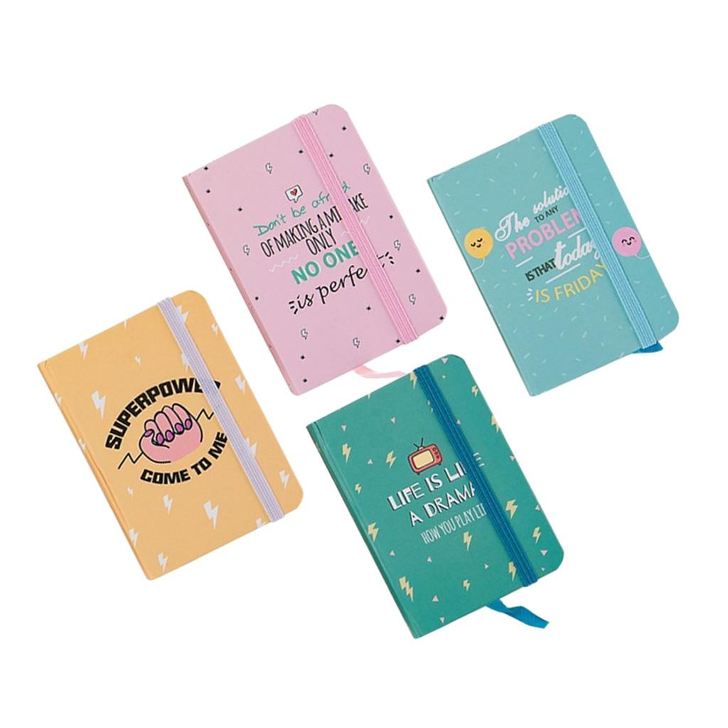 A7 Mini Hard Cover Creative Cute Ruled Notebook Diary Line Journal