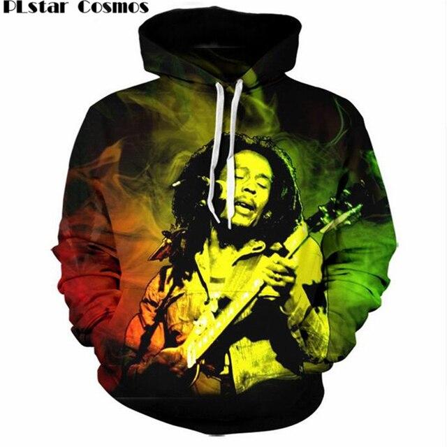 d6180bea94a02 PLstar Cosmos 2018 New Fashion 3d Hoodies Reggae Star Bob Marley Prints Sweatshirt  Men Women Hip Hop Rock Hooded Pullover