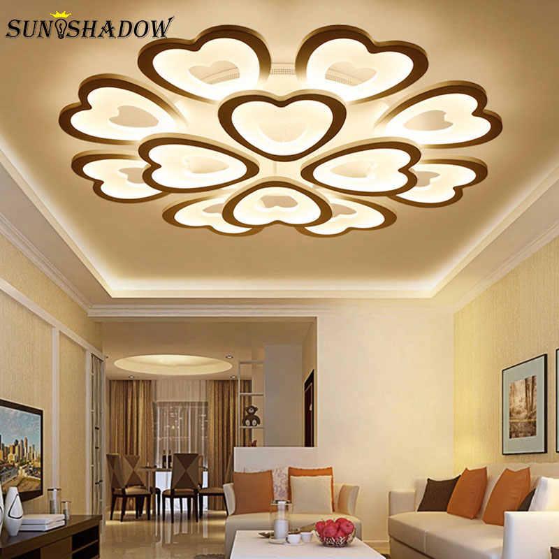 Белый свет современный светодиодный потолочный светильник для гостиной спальни Кухонные светильники акриловый простой светодиодный потолочный светильник домашние светильники