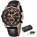 Relogio Masculino мужские часы LIGE Топ Бренд роскошные мужские военные спортивные часы мужские Хронограф Дата водонепроницаемые кварцевые часы