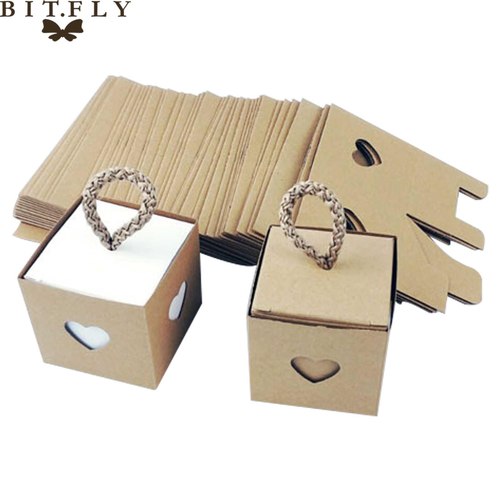 10 sztuk Vintage Paper Love Heart pudełko cukierków z liny pudełko prezentowe z czekoladkami dla gości DIY Baby Shower festiwal ślubny zaopatrzenie imprezy
