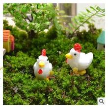 20Pc/Set Mini Flatback Resine Craft Micro Chicken Eggs  Miniature Garden Decor Bonsai Terrarium Supplies Micro Landscape