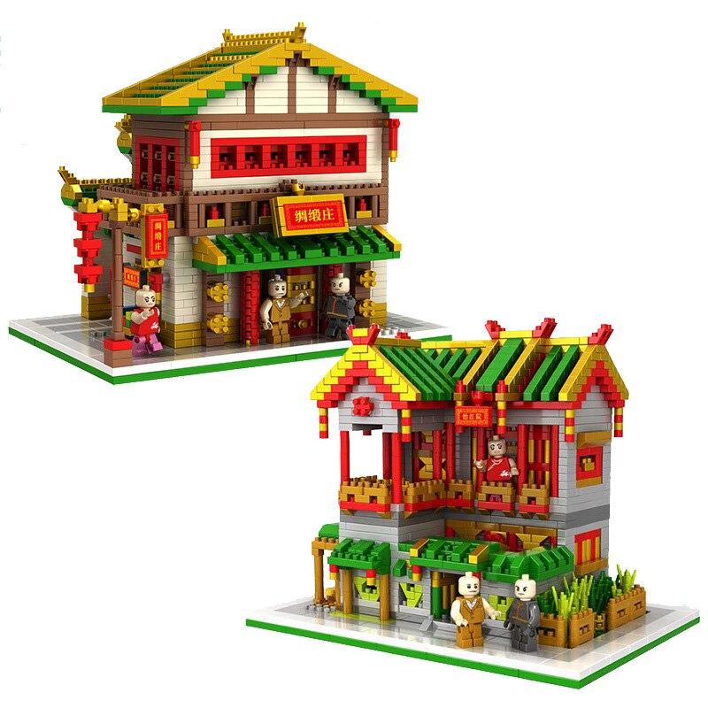 Big Size Chinese Building Blocks Toy 2 Type Available  3D DIY Mini NanoBlocks Diamond Mini Block Toys loz super mario bros building diamond blocks 17cm big size 1350pcs figure toy for age 14 offical authorized 9040