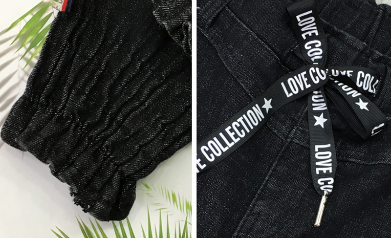 Skinny Vintage Femmes Taille Denim Crayon longueur Gland Cheville Femelle Slim Lettre Pantalon Haute Jeans Impression Black Z929 Stretch wrqXw