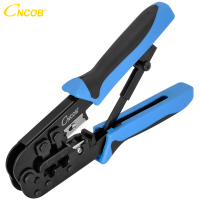 CNCOB Cable Crimper RJ45 RJ11 RJ12 Telephone Line Crimping Tool Double Use Crimp Cat5e Cat6 8P