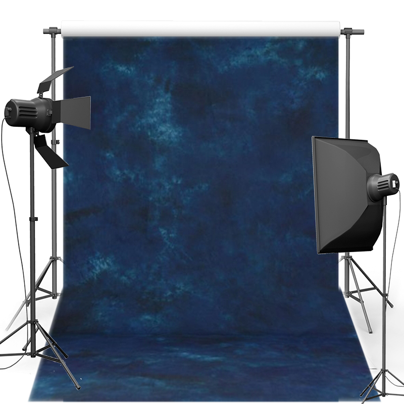 MEHOFOTO Pro Dyed Muslin photography background Hand Made Old master painting Dark Blue Backdrops for photo studio DM214