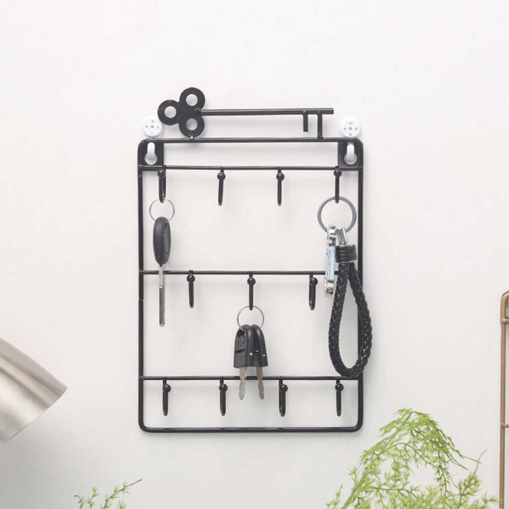 Living Room Hook Bags Hair Pin Storage Multipurpose Bedroom Decorative Key Holder Wall Hanging Home Rack Organizer Door Back