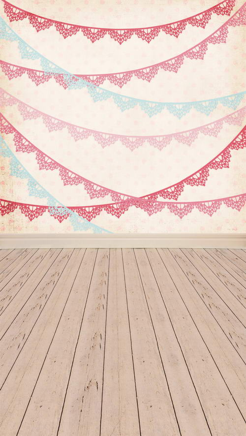 Customize vinyl cloth print vintage flags wall textured wood floor photo studio background for portrait photography props  F-810