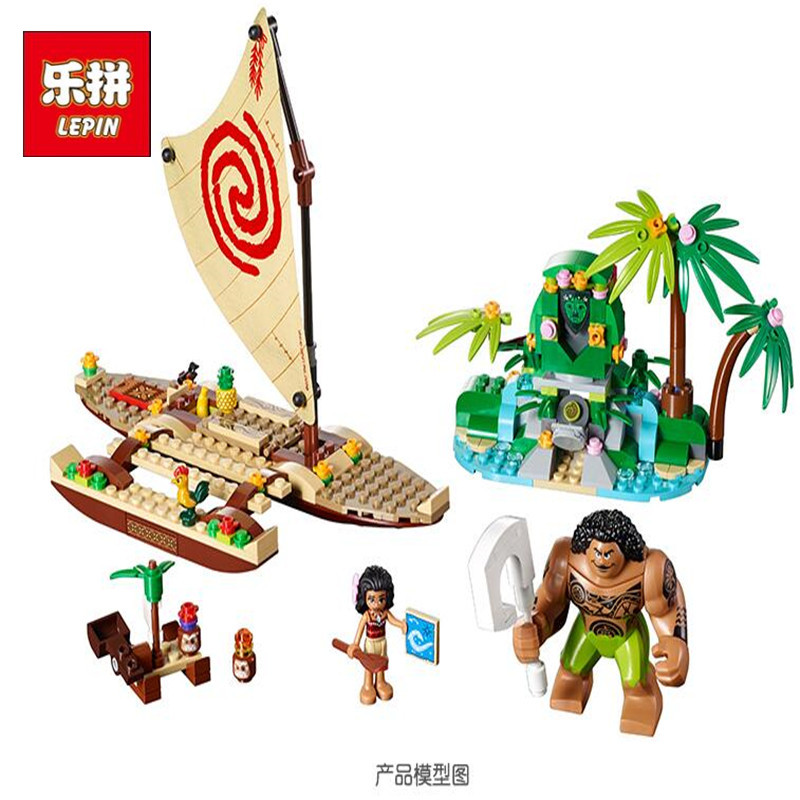 Lepin 25003 25004 Girls Friends Series Moanas Ocean Voyage Restore The Heart of Te Fiti Set Building Blocks LegoINGlys 41150 флейта the ocean of music