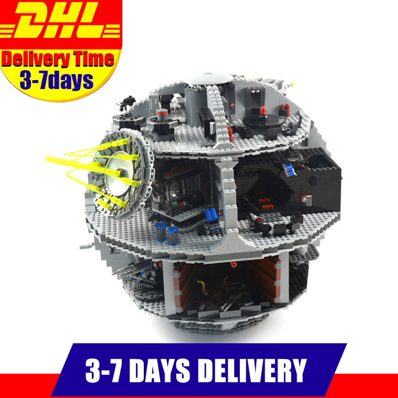 LEPIN 05035 Star  Death Star 3804pcs Building Block Bricks Toys Kits Compatible with 10188 Children Educational Gift for Boy new lepin 05035 star wars death star 3804pcs building block bricks toys kits compatible legoed with 10188 children educational