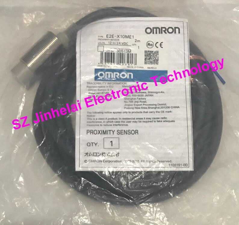 100% New and original OMRON Proximity switch, Proximity sensor E2E-X10ME1   2M  12-24VDC [zob] 100% new original omron omron proximity switch tl g3d 3 factory outlets