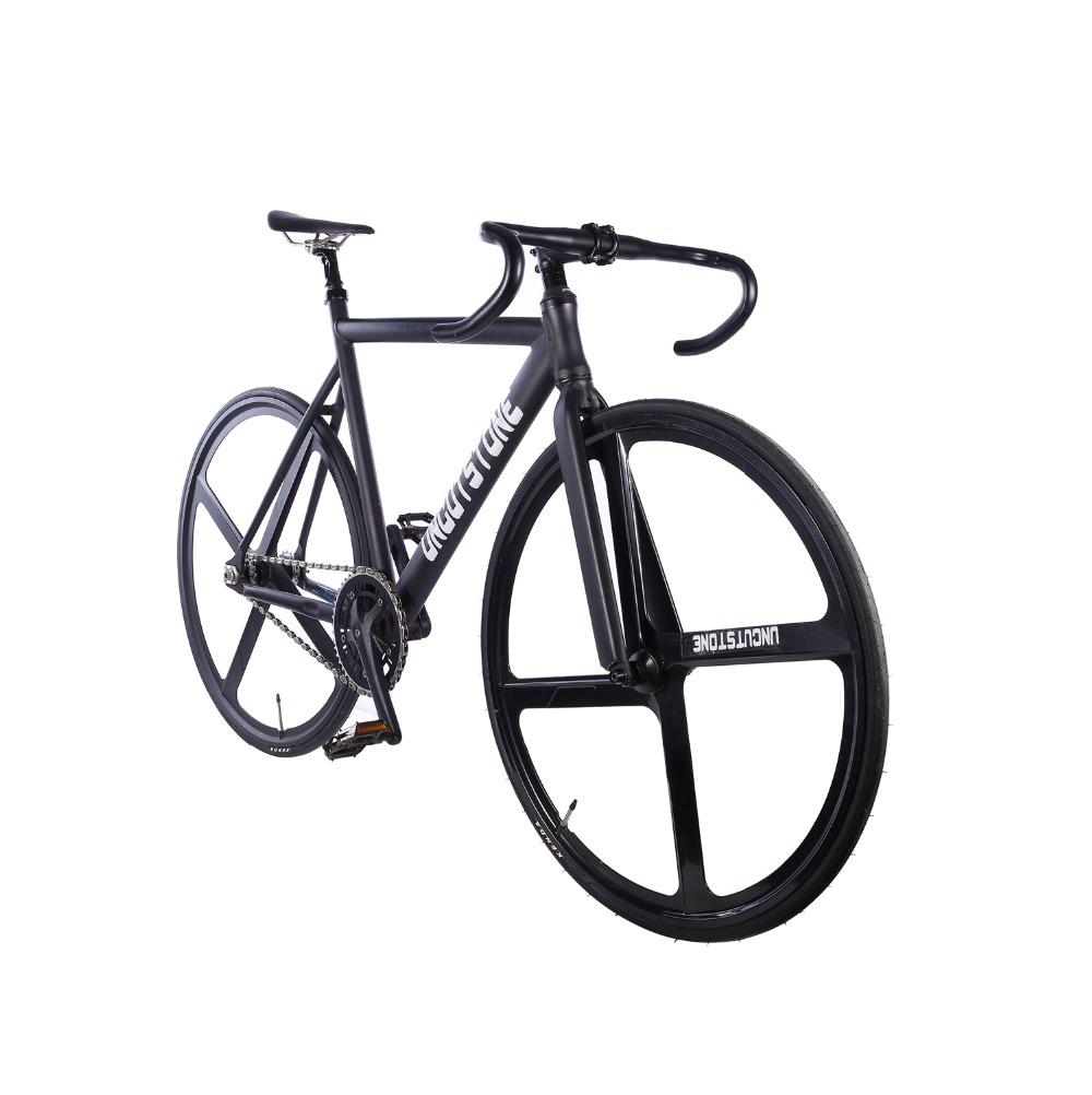 Track Bicycle Fixie bike frame 53cm 55cm 58cm 700C Aluminum alloy fixed gear Bike Magnesium Alloy wheel bike in Bicycle from Sports Entertainment