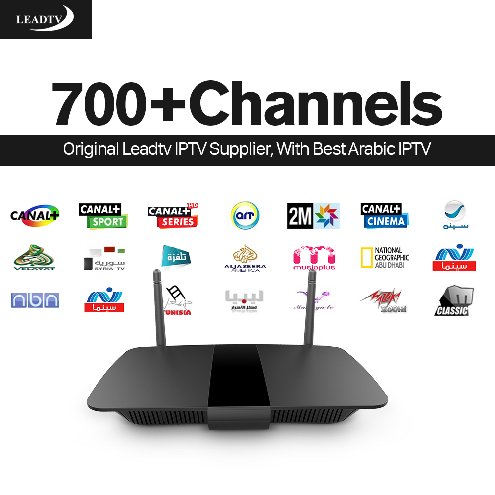 Best Arabic IPTV Box Smart Android TV Box 700 Channels Leadtv IPTV Subscription Europe Germany Canal Plus French IPTV Top Box