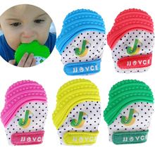 Baby Toys 0 12 Months Teething Mitten Silicone Teether Glove BPA Free Happy Toys For Baby