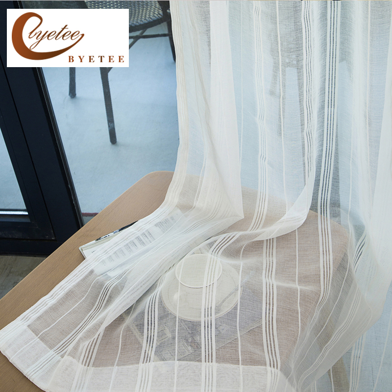 Byetee Modern Living Room Luxury Window Curtains Striped: [byetee] Modern Bedroom Window Curtain Living Room Curtain