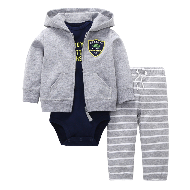 2 piece baby boy clothes cotton Long sleeve hoodies coat+letter romper+stripe pant clothing set spring newbron baby outfits spring autumn baby boy clothing cotton long sleeved baby boy clothes cartoon beard gentleman baby romper infantil babies sr216