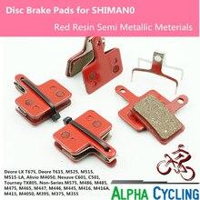 цена на Bicycle Disc Brake pads for SHIMANO M375 M395 M486 M485 M475 M416 M446 M515 M445 M525 Disc Brake, 4 Pairs Black Resin